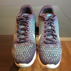 Nike Air Max Sequent II purple and turquoise blue